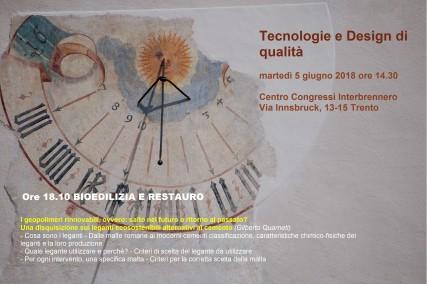 evento TECNOLOGIE E DESIGN DI QUALITA' 1