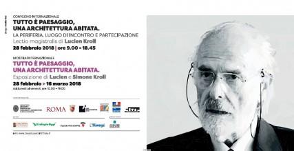 evento TUTTO E' PAESAGGIO, UNA ARCHITETTURA ABITATA. Lectio magistralis di Lucien Kroll 3